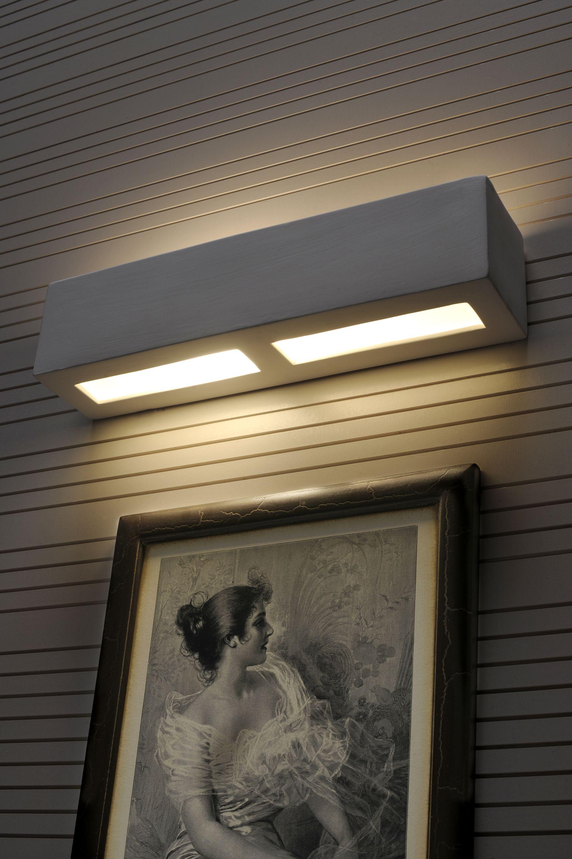 Keramik Wandlampe Wandleuchte Lampe bemalbare Leuchte Flurlampe weiß Libra
