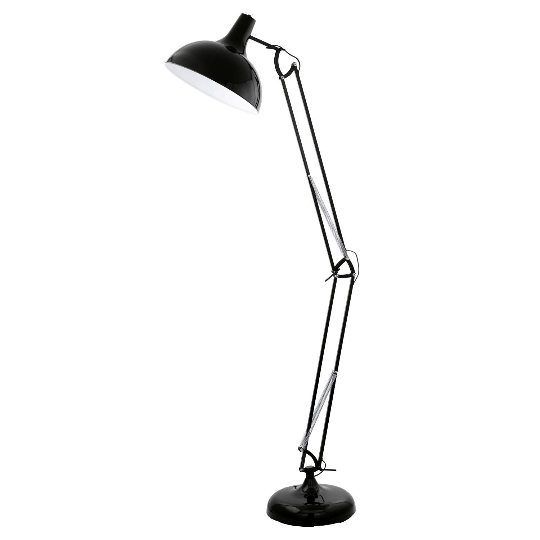 Stehlampe E27 H190cm Schwarz Stehleuchte Retro Retrolampe