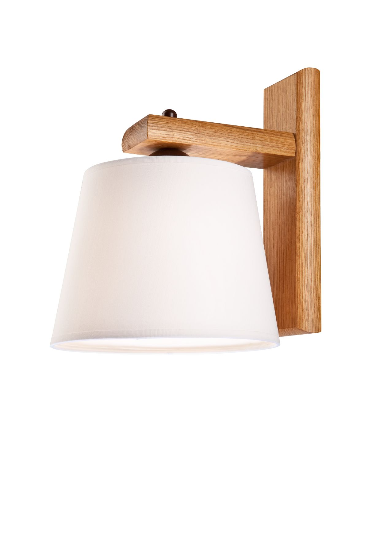 wandleuchte holz stoff schirm beverely wand lampe