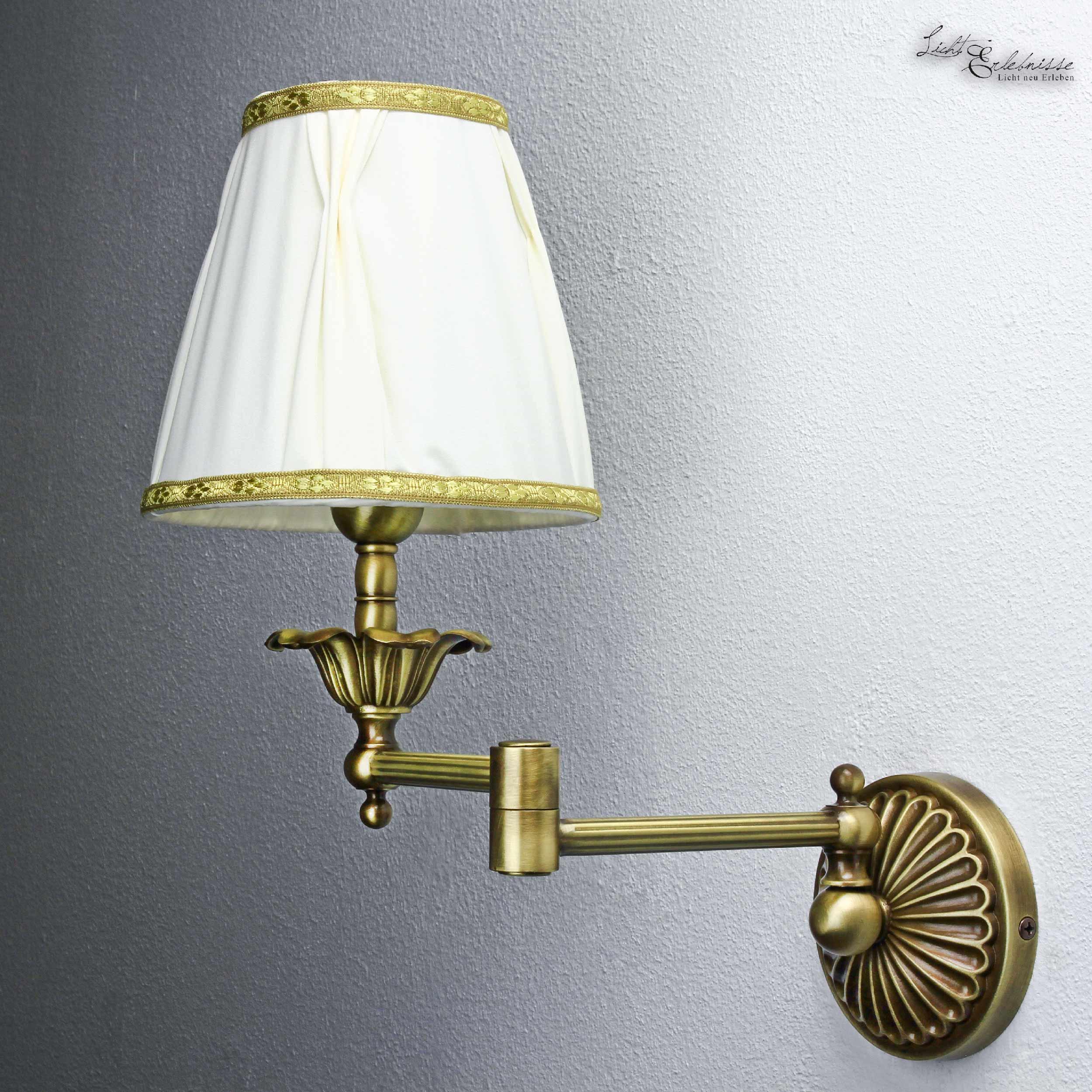 wandleuchte lampe wohnzimmer weiß stoff schwenkbar echt