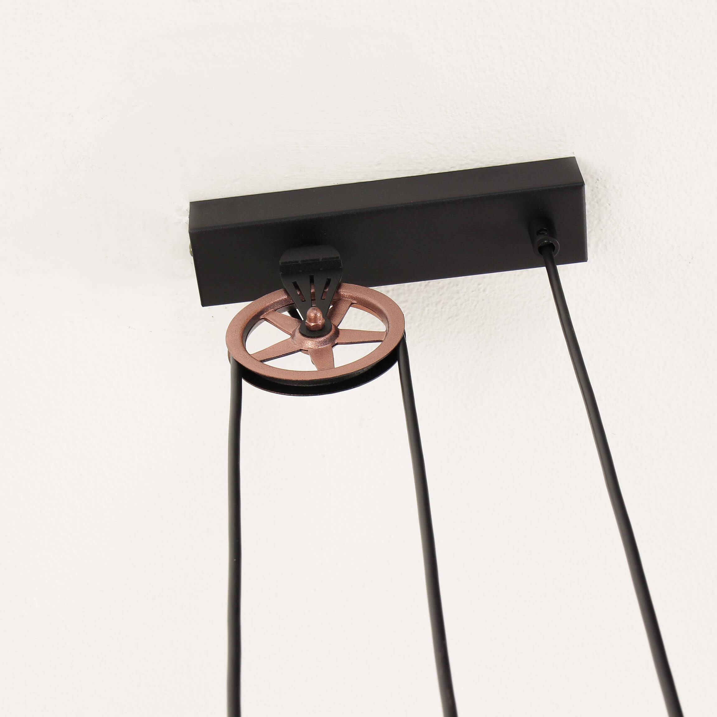 Design Hängeleuchte Industrial Schwarz Kupfer Wohnzimmer Esstisch Pendellampe