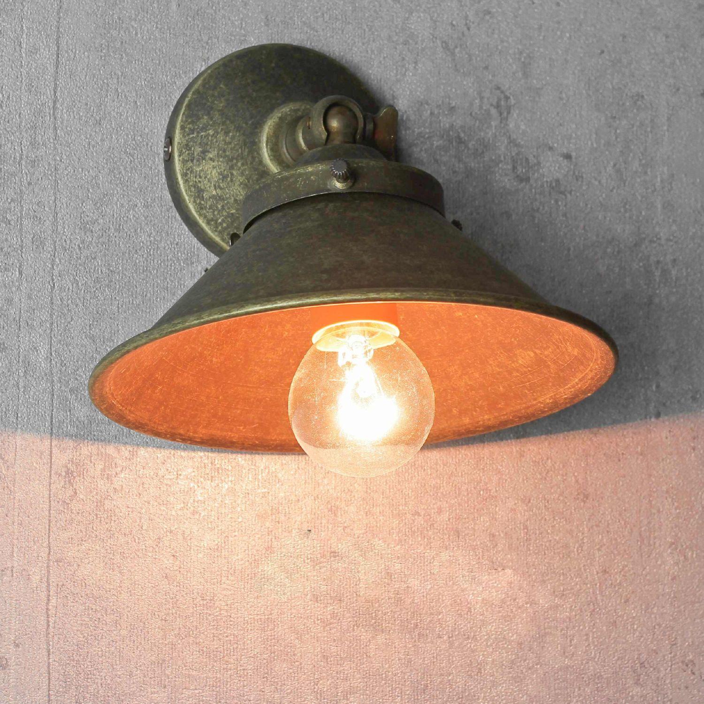 Shabby Chic Design Wandleuchte Messing Wandlampe Rustikal Industrie Retro Stil