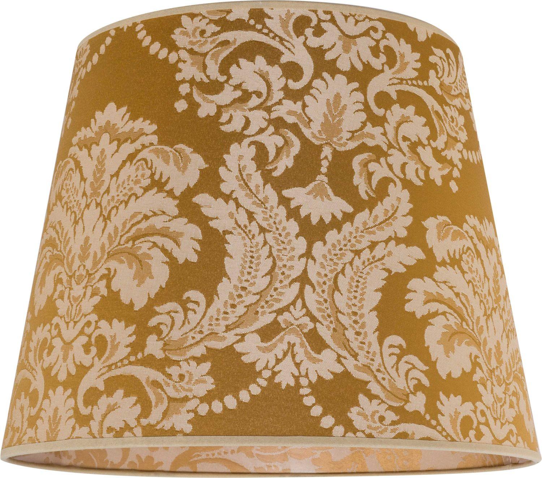 Grosser Lampenschirm O38cm Gold Barock Muster Fur E27 Stehlampe