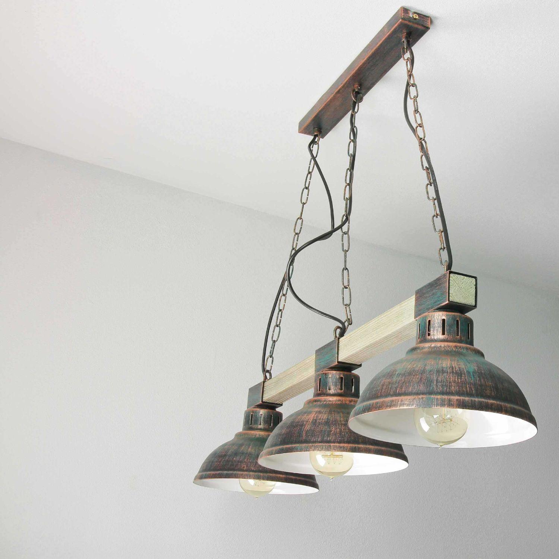 Hängelampe Deckenlampe Lampe Kupfer Kunst NEU UNIKAT Kupferlampe