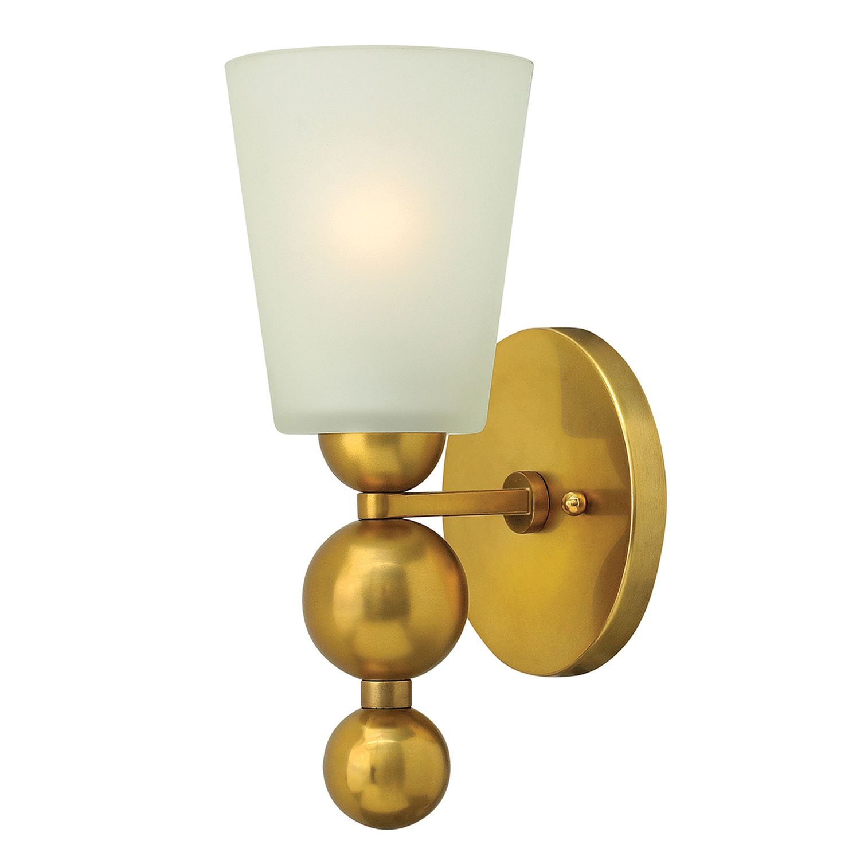 Vintage Lampada Parete Rai IN Ottone Crema B:14cm ...