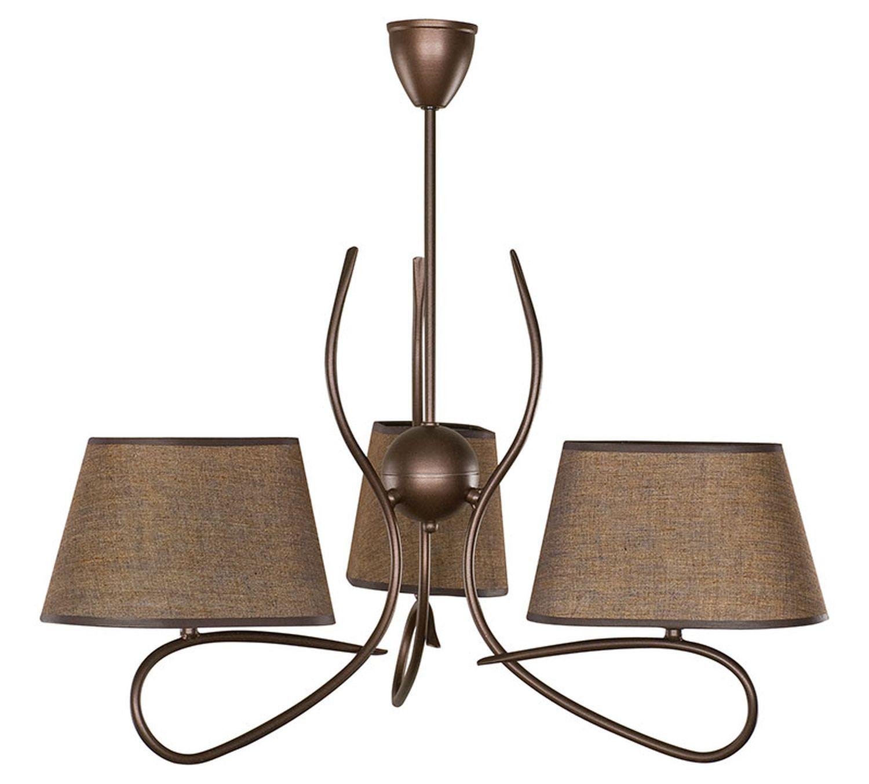 Deckenleuchte Braun 3 flmg Wohnzimmer Esstisch Landhaus hängend Lampe   eBay