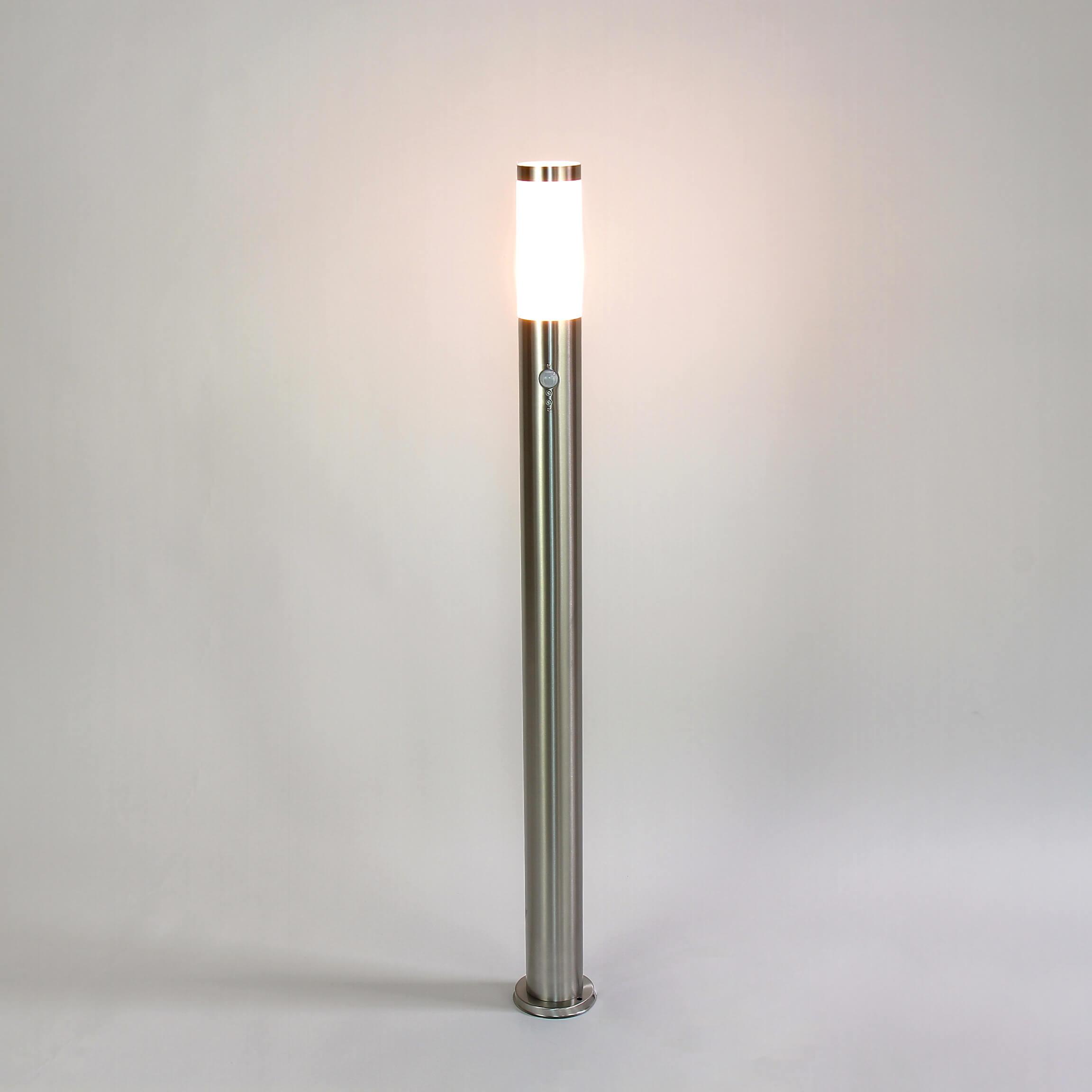 LED Wegeleuchte mit Bewegungsmelder Pollerleuchte Edelstahl Außenlampe Garten