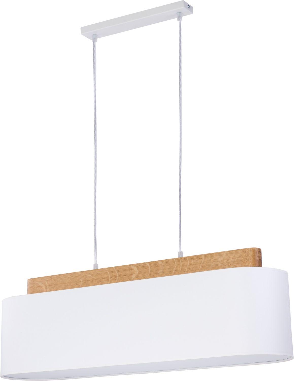 pendelleuchte lang echtholz stoff esstisch wohnzimmer 4x