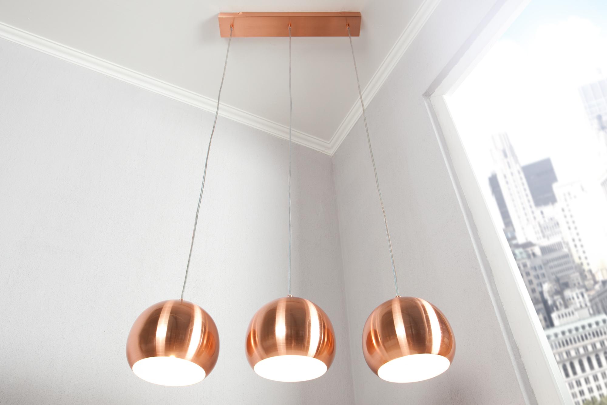 Pendelleuchte lang E27 Retro glänzend Wohnzimmer Esszimmer ...