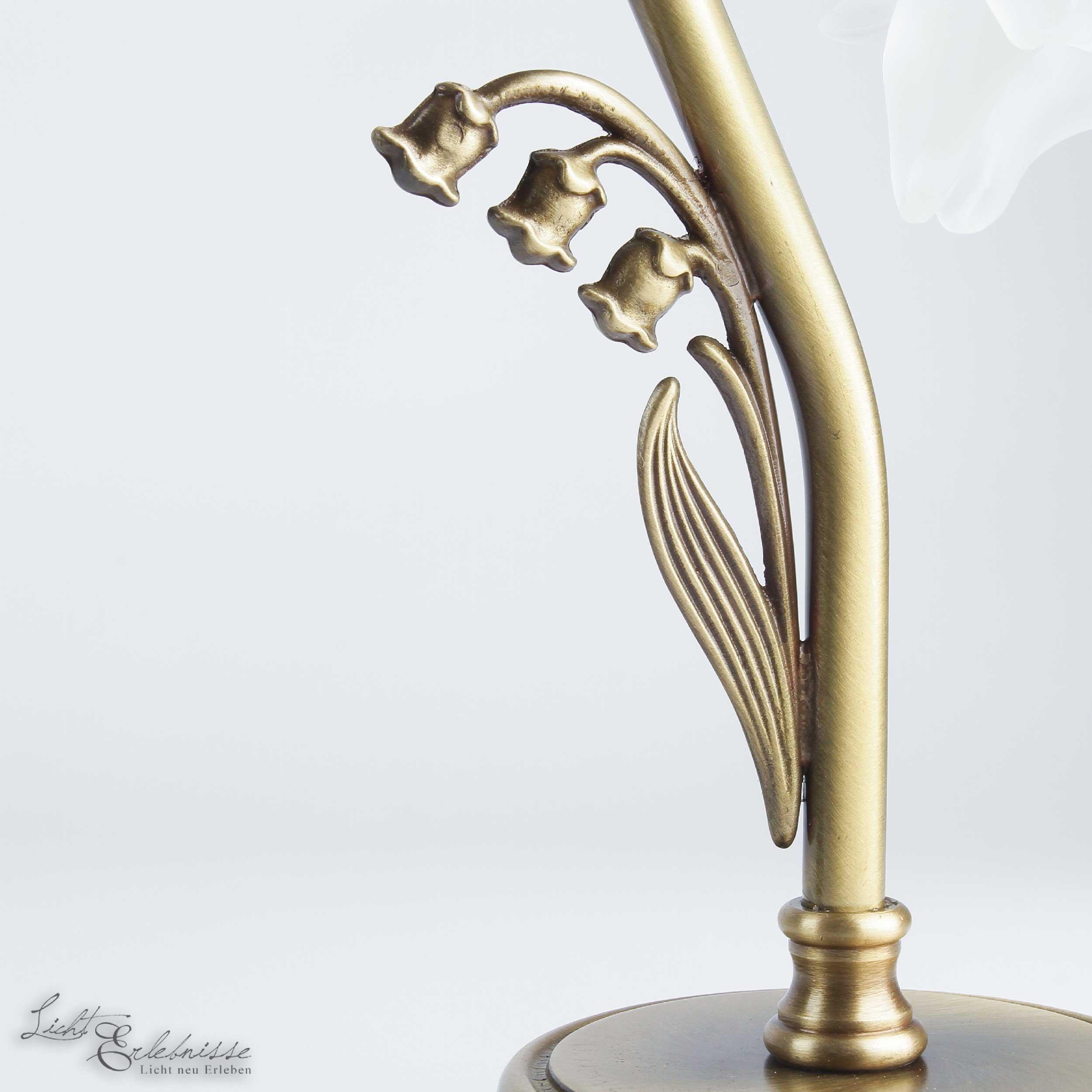 tischleuchte schlafzimmer lampe echtmessing glas bronze