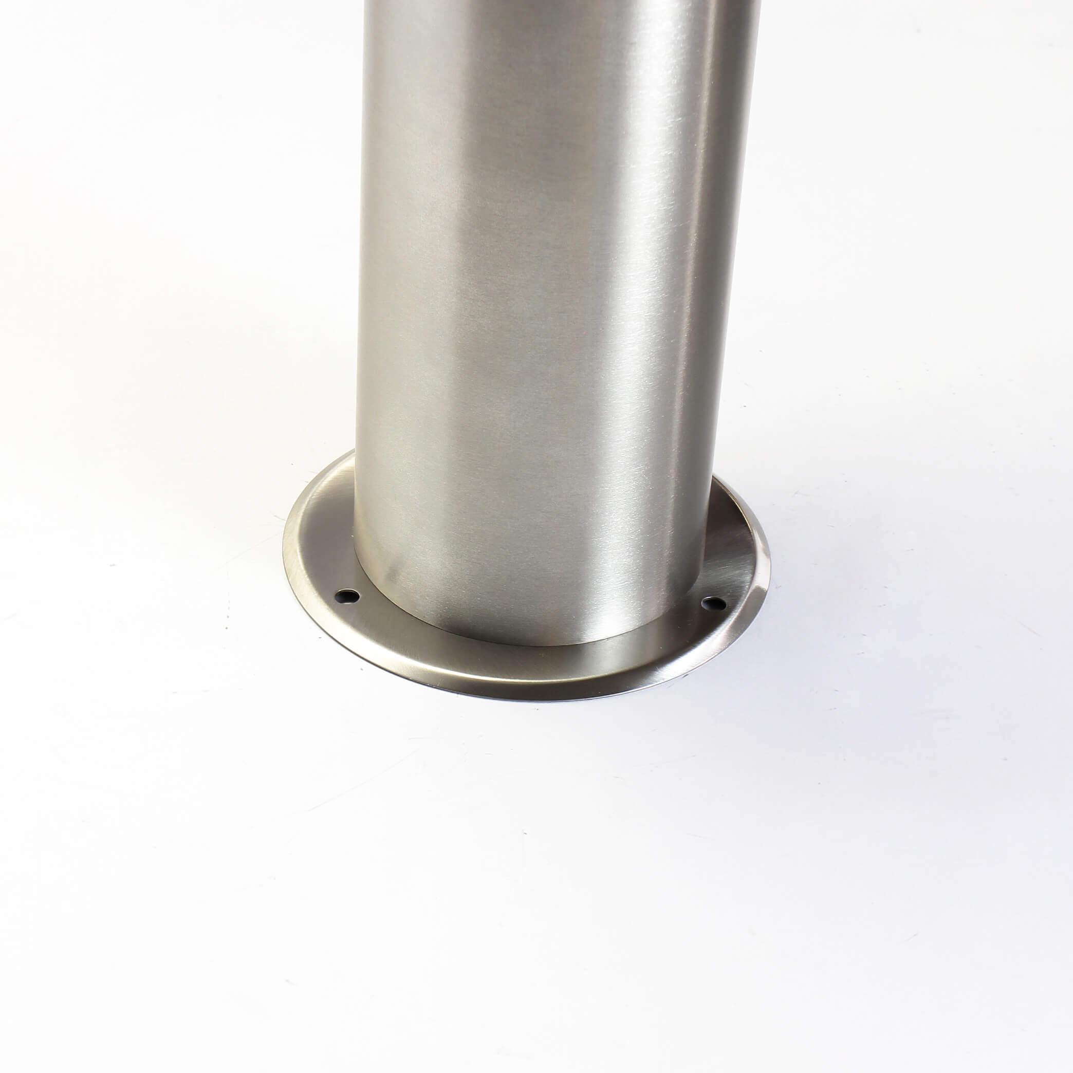 Heller 12w LED h65cm artesanía local de acero inoxidable en plata de pie lámpara Lámpara stand incl