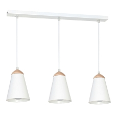 Geschmackvolle Pendelleuchte E27 Weiß Ø21cm Hängelampe Modern Beleuchtung Küche