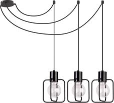 Pendelleuchte Schwarz Extra Lange Kabel Flexibel Metall Hangelampe