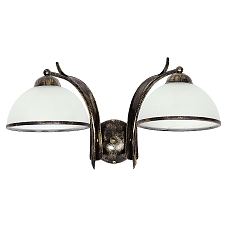 Wohnraumleuchte Landhaus Wandleuchte Wandlampe antik Zugschalter Glasschirm