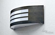 Moderno lampada applique per esterni in nero oro e w da