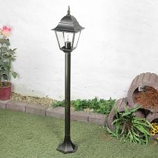 5W LED Außenstehleuchte Standlampe in antik-silber Wegeleuchte Wegelampe Leuchte