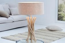 tischlampe holz hell h 34cm e27 skandinavisches design beleuchtung wohnzimmer ebay. Black Bedroom Furniture Sets. Home Design Ideas