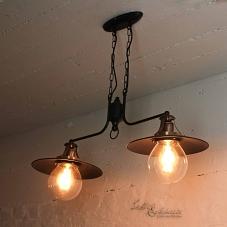 vintage pendelleuchte 3x e27 in kupfer h ngeleuchte lampe decke glas wohnzimmer ebay. Black Bedroom Furniture Sets. Home Design Ideas