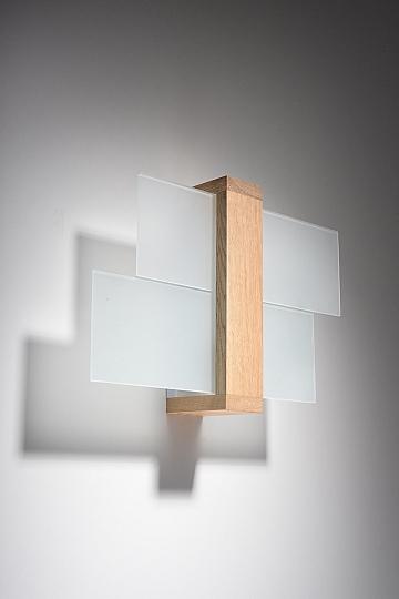 Wandleuchte e27 echtholz wand innenlampe wandlampe leuchte for Wohnzimmermobel echtholz modern