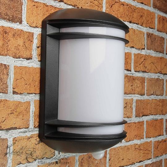 wandleuchte alu inkl heller 12w led anthrazit bewegungsmelder wandlampe au en ebay. Black Bedroom Furniture Sets. Home Design Ideas