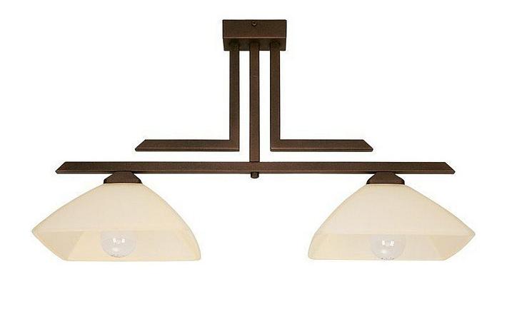 Deckenlampe glas schirme 62cm lang 2 flmg wohnzimmer for Deckenlampe lang