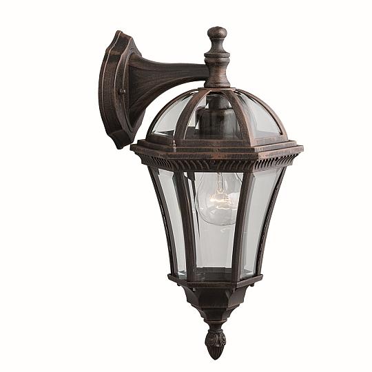 Klassische Stehleuchte in braun antik E27 60W Gartenlampe Laterne Wegleuchte