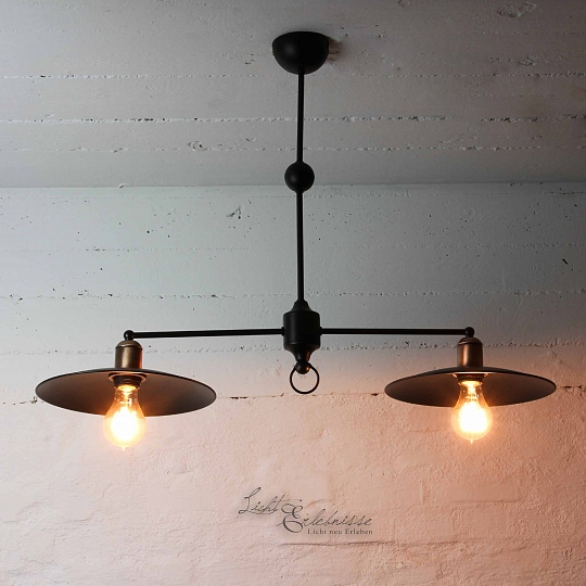 loft pendelleuchte 2x e27 in kupfer decke h ngeleuchte lampe vintage wohnzimmer ebay. Black Bedroom Furniture Sets. Home Design Ideas