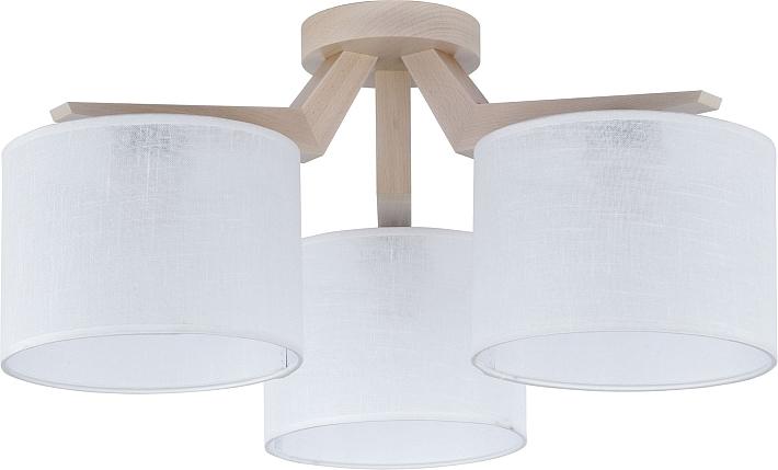 Plafoniere Tessuto : Plafoniera legno chiaro lampade paralume in tessuto bianco ebay