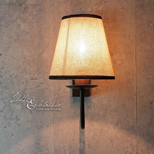Rustikale Wandleuchte Shabby Braun Beige E14 Lampe Wand