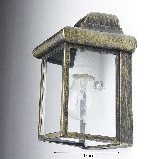 rustikale au enleuchte wandlampe antik gold eckig led. Black Bedroom Furniture Sets. Home Design Ideas