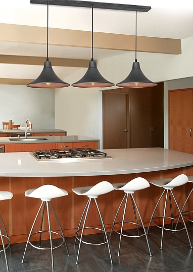 h ngelampe grafit kupfer 3 flammig wohnlich esstisch vintage pendelleuchte ebay. Black Bedroom Furniture Sets. Home Design Ideas