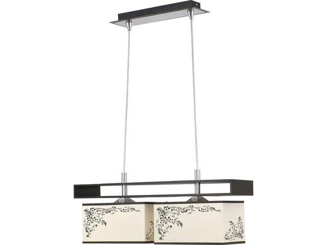 Détails sur Moderne Suspension en Bois Abas-Jour en Tissu 2xE27 60W Lampe  de Salon Couloir