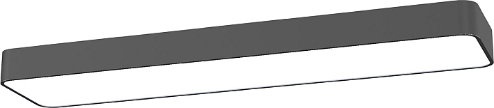 Led deckenleuchte grau deckenlampe 2xt8 16w l93 5cm b20cm - Deckenlampe arbeitszimmer ...