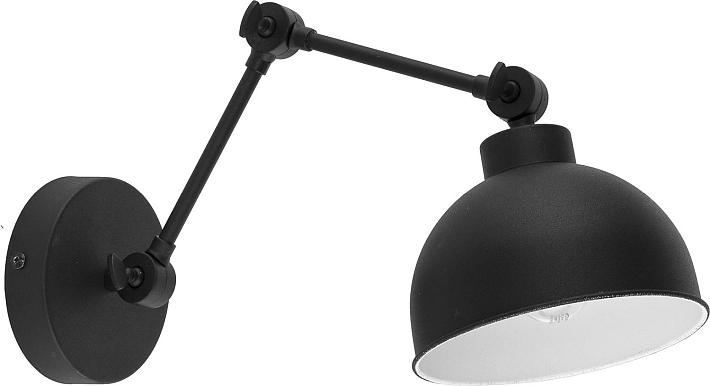 Applique murale métal noir design moderne avec bras articulé salon