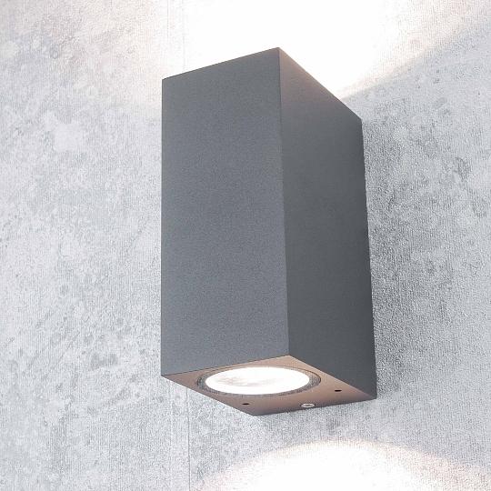 up down wand au enleuchte wandlampe au en au enlampe anthrazit wandstrahler ebay. Black Bedroom Furniture Sets. Home Design Ideas