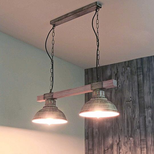 Vintage Pendelleuchte 2x E27 Shabby Leuchte Hängelampe Decke Küche  Beleuchtung | eBay