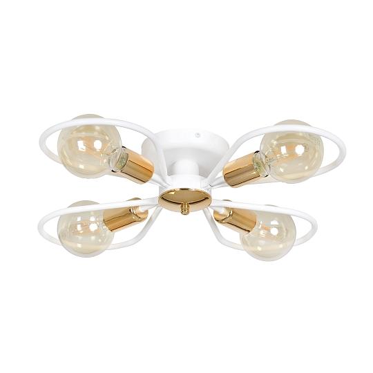 Détails sur Plafonnier Blanc Cuivre Diamètre 60 cm Design Moderne Chambre  Salon Lampe