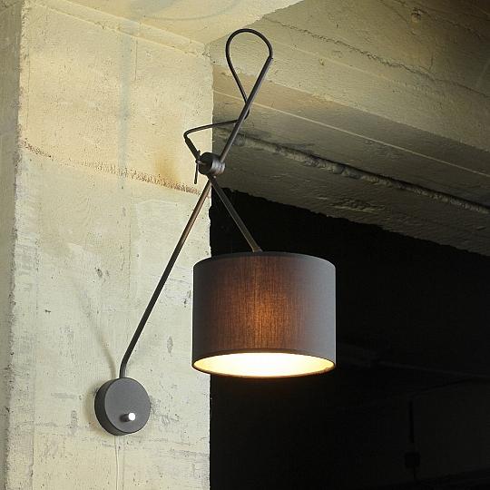 wandlampe verstellbar schwarz gold wandleuchte mit. Black Bedroom Furniture Sets. Home Design Ideas