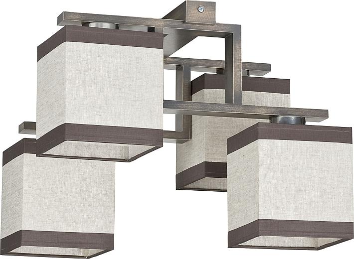 Deckenlampe modern grau beige braun holz e27 b 36cm l 42cm for Farbkombination grau braun