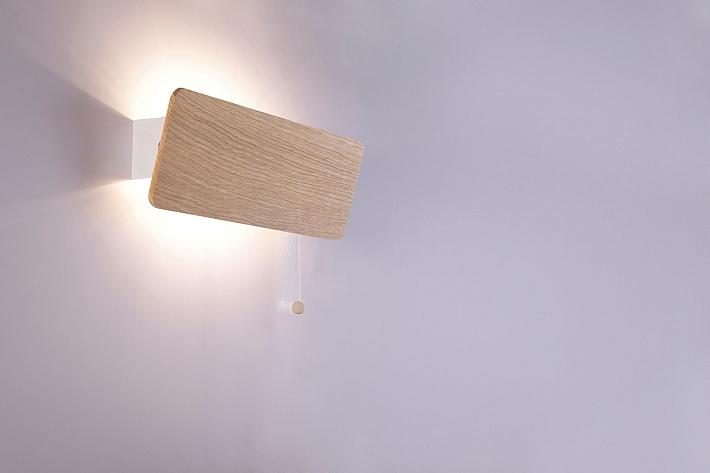 Luce Da Hotel Colori Legno 1x E14 Lampada Interni Lampadario Camera