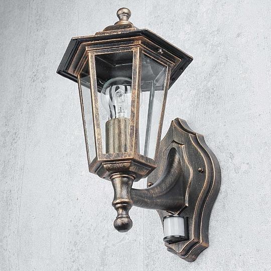 sensor leuchte aussen hauswand paris in antik mit bewegungsmelder beleuchtung ebay. Black Bedroom Furniture Sets. Home Design Ideas