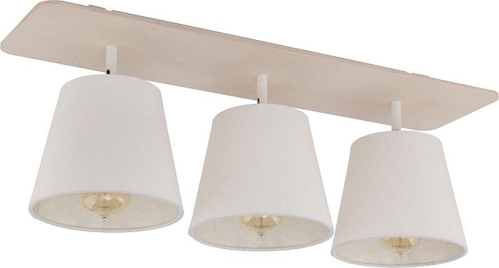 Plafoniera Camera da letto bianco 3 LAMPADE STOFFA angolare ...