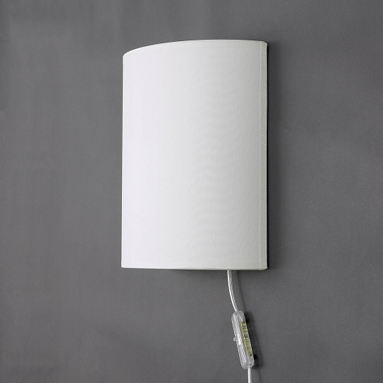 loft wandleuchte mit kabel stecker creme e27 stoff schirm. Black Bedroom Furniture Sets. Home Design Ideas