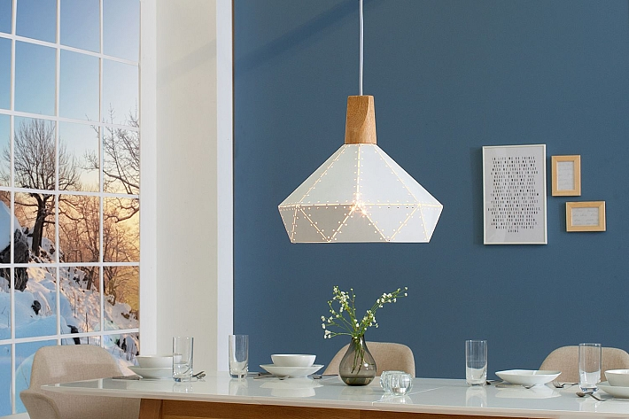 Detalles de Blancos Lámpara Colgante Candavi Escandinavo Diseño Mesa de  Comedor Salón
