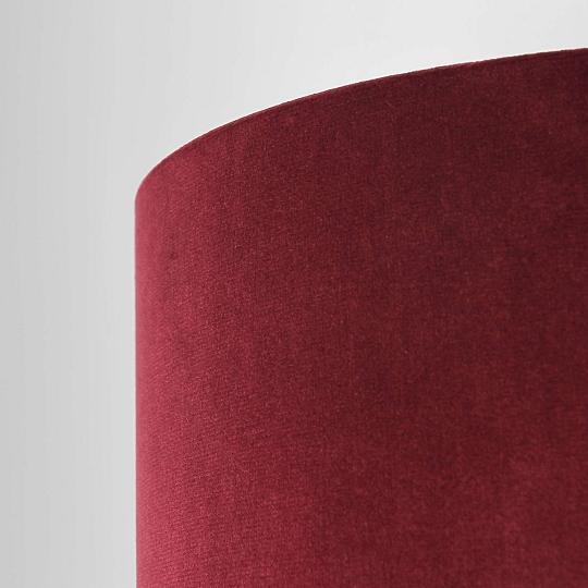 Elegante Wandlampe Aus Samt Rot Mit Stecker Schlafzimmer