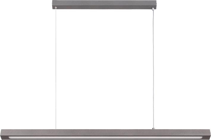 H ngelampe grau metall balken led wohnzimmer esstisch for Pendelleuchte extra lang
