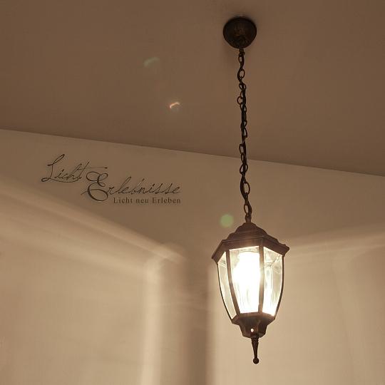 LED Hängeleuchte 6 Watt für Außen Außenleuchte Aussenlampe Gartenlampe Leuchte