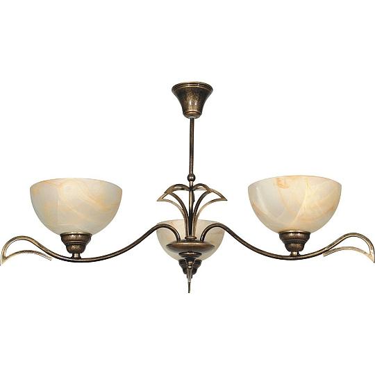 Deckenlampe Messing Design Antik Glas Schirm Wohnzimmer
