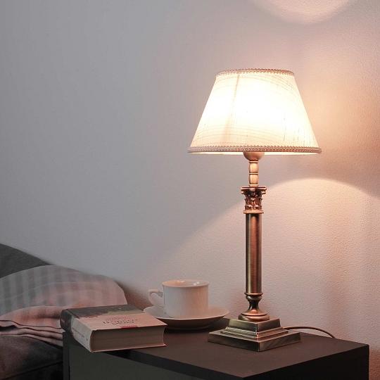 Designer Tischlampe Messing Leuchte Jugendstil H31cm
