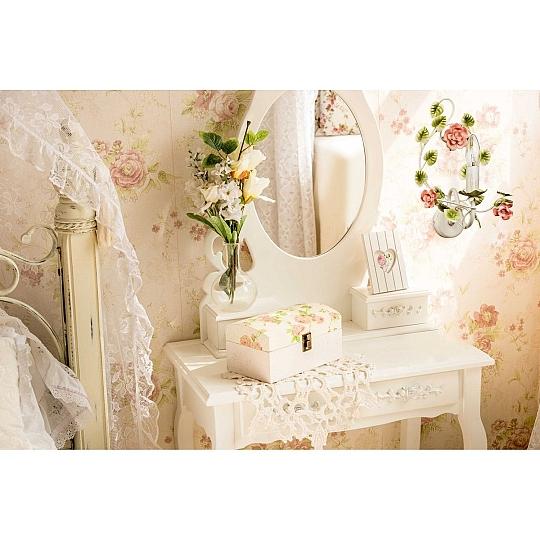 Romantique murale éclairage Shabby blanc florales décor de céramique Chambre Couloir